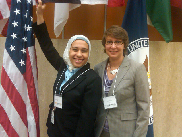 Cecile and Noha at US Dept of State