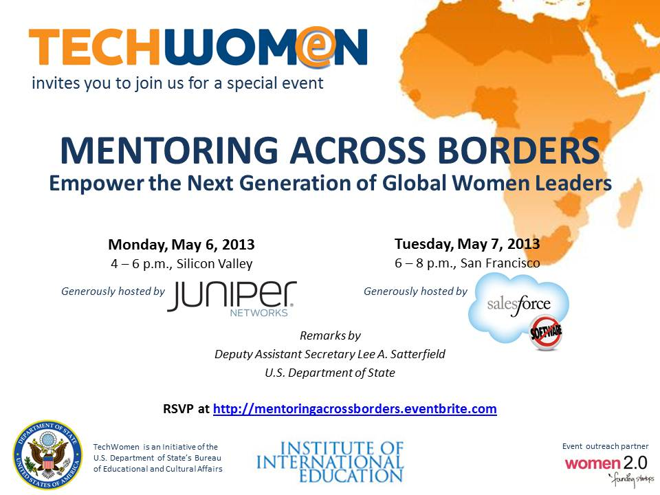 Eventbrite invitation Mentoring Across Borders